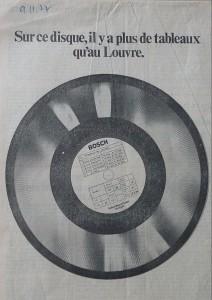 Publicité disque laser, Le Monde novembre 1977. Fonds J. Durand ARC 3024 IHTP